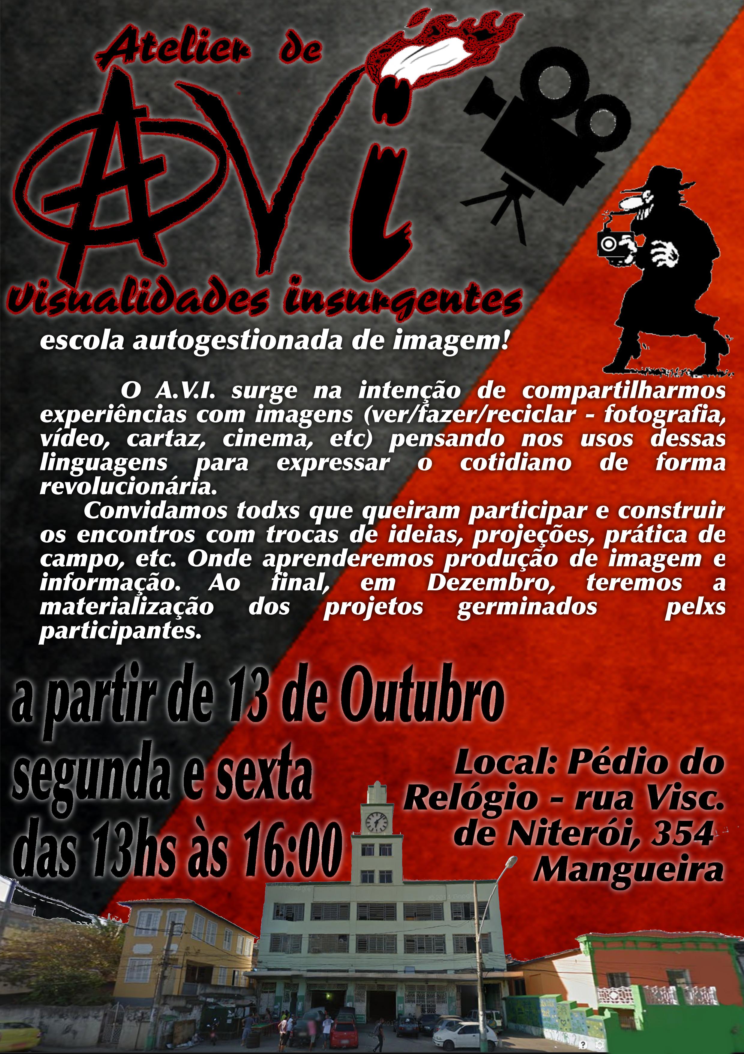 Atelier de Visualidades Insurgentes @ Prédio do Relógio | Rio de Janeiro | Rio de Janeiro | Brasil